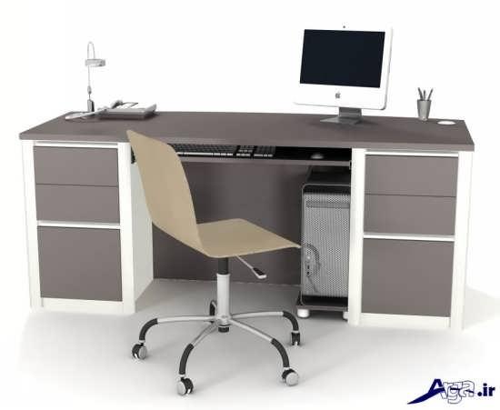 مدل میز کامپیوتر با طراحی زیبا و ساده