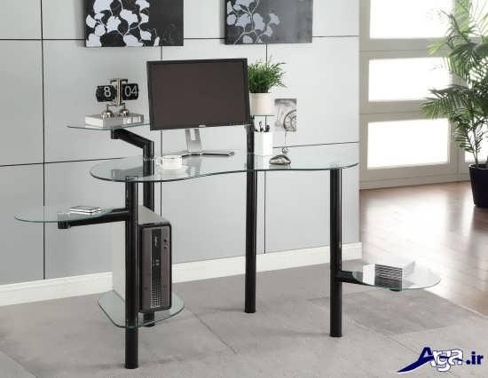 مدل میز کامپیوتر در طراحی ساده و شیک