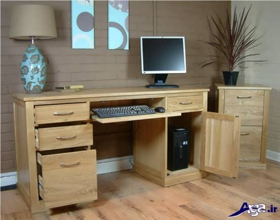 مدل زیبا و ساده برای میز کامپیوتر