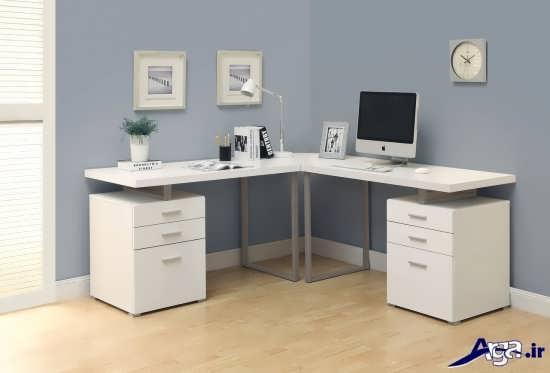 مدل میز کامپیوتر و تحریر در طراحی ساده و شیک