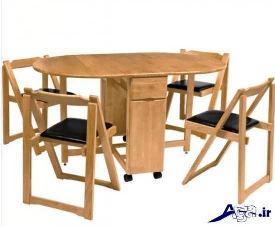میز ناهار خوری با طرح تاشو