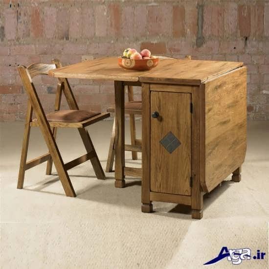مدل میز ناهار خوری با طرح چوبی و شیک