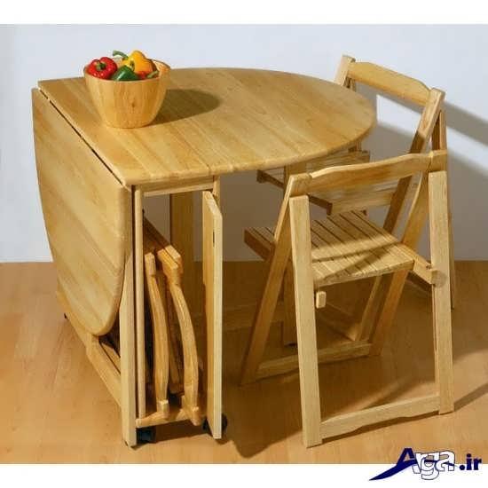 میز ناهار خوری چوبی و زیبا