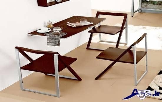 مدل میز غذا خوری تاشو با طرح شیک و متفاوت