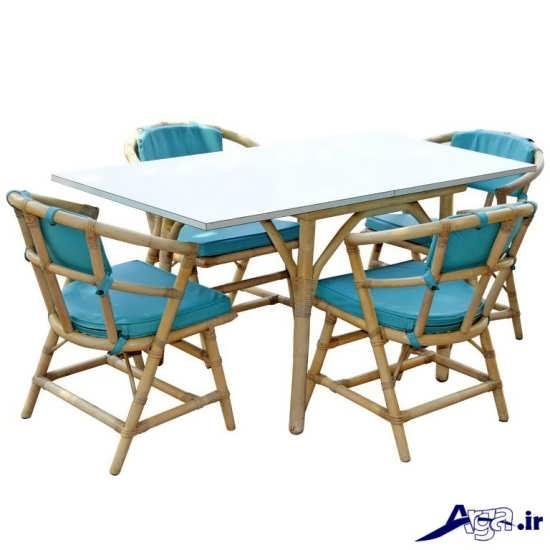میز ناهار خوری چوبی شیک و متفاوت