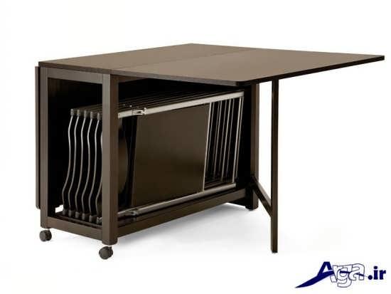 مدل میز ناهار خوری با طرح چوبی و متفاوت