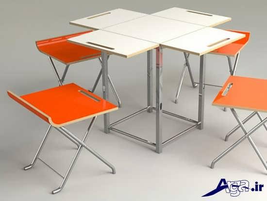 مدل میز ناهار خوری فلزی