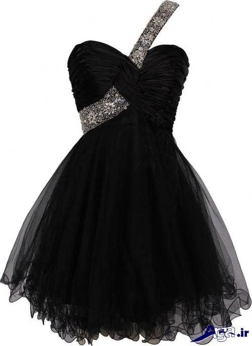 مدل لباس پرنسسی کوتاه و مشکی دخترانه