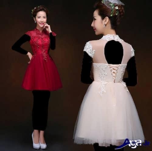 مدل لباس مجلسی کوتاه دخترانه با طرح های زیبا