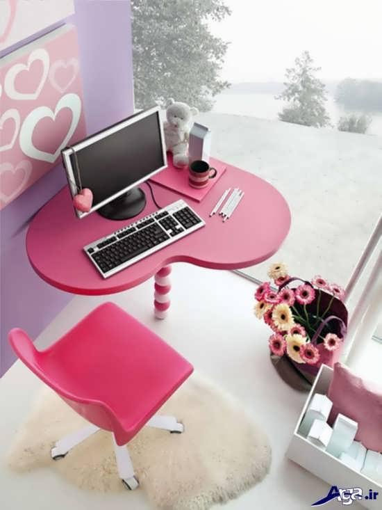 مدل میز مطالعه ی شیک برای دختران