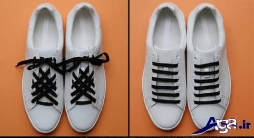 مدل های ساده بستن بند کفش