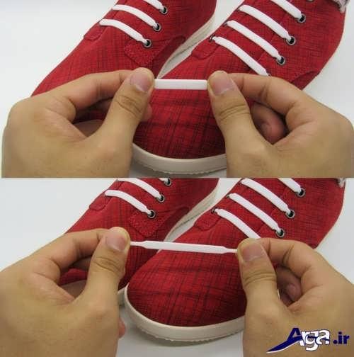 مدل بستن بند کفش با روش ساده