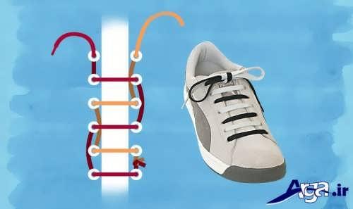 مدل بستن بند کفش به صورت موازی
