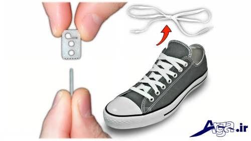 مدل بستن بند کفش با کمک ایده های خلاقانه