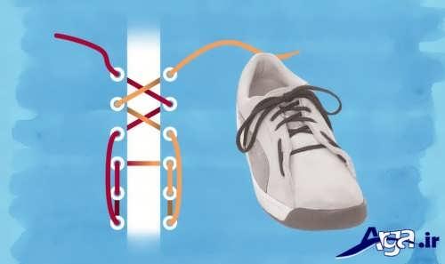آموزش مدل بستن بند کفش