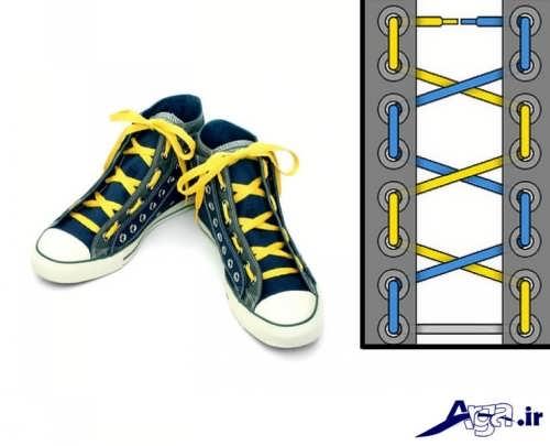 مدل ساده بستن بند کفش اسپرت