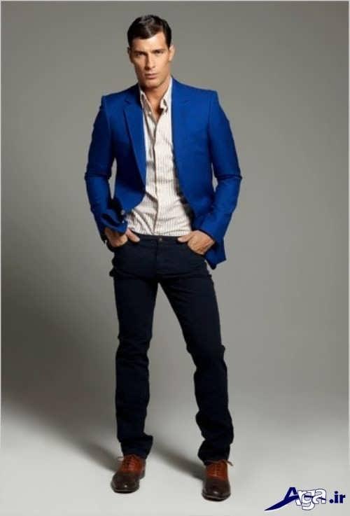 مدل کت آبی مردانه