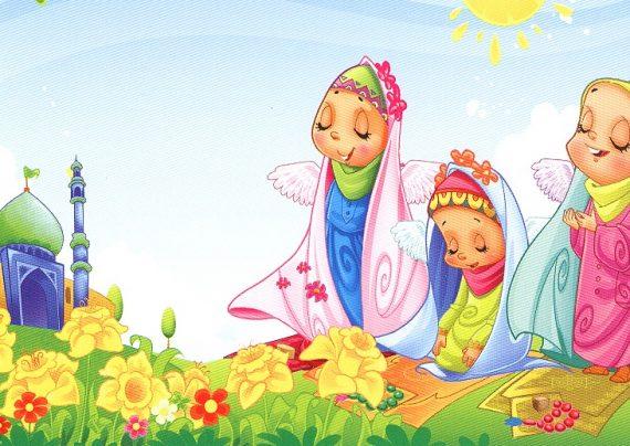 نقاشی نماز برای رنگ آمیزی کودکان