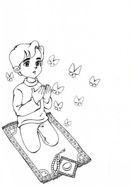 صور نیک محرمانه نقاشی نماز کودکان