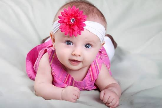 عکسی زیبا از نوزاد دختر