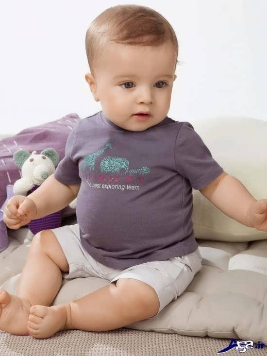 عکس های نوزادان پسر با حالت های زیبا و بانمک