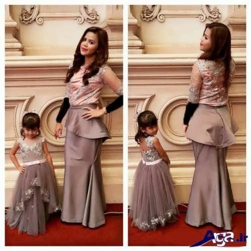 مدل شیک و زیبا لباس مجلسی ست مادر و دختر