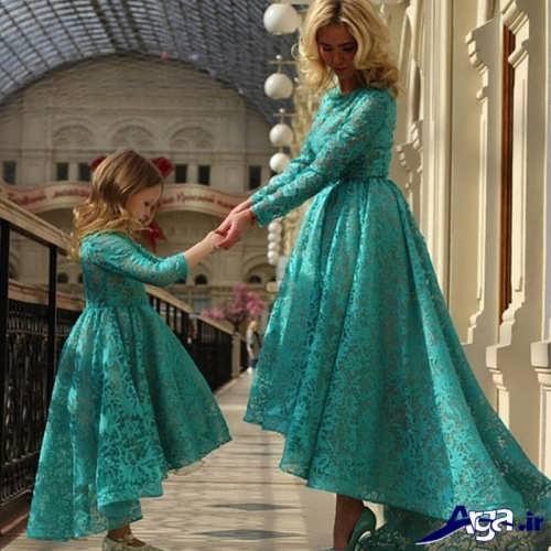 مدل لباس گیپور ست مادر و دختر