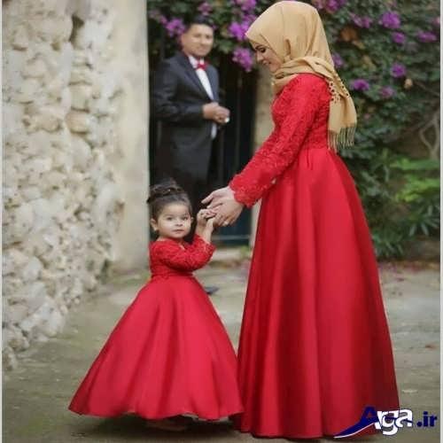 مدل لباس مجلسی بلند زنانه و بچه گانه