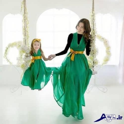 مدل لباس ست مادر و دختر جالب و دوست داشتنی