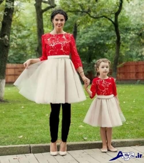 مدل لباس ست کوتاه دختر و مادر
