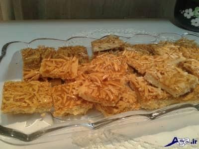 روش پخت شیرینی ملکه بادام در منزل