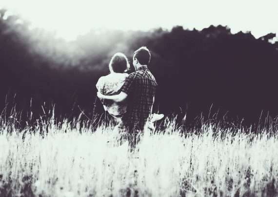 عکس عاشقانه سیاه سفید