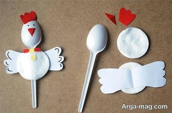 خلاقیت ساده ساخت خروس