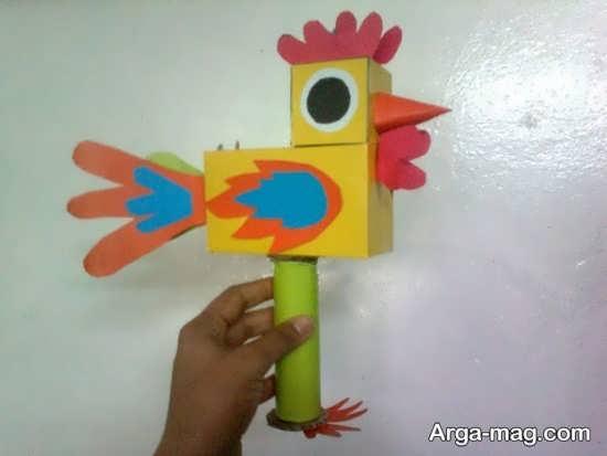 خلاقیت ساخت خروس کاغذی
