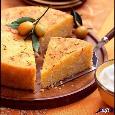دستور پخت کیک زعفرانی
