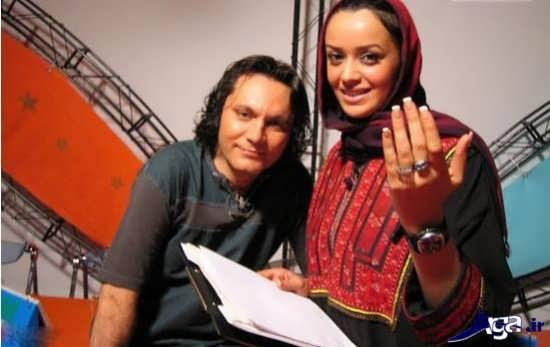 عکس الهام چرخنده و همسر سابقش