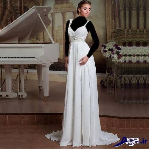 مدل لباس عروس زیبا و متفاوت ساده