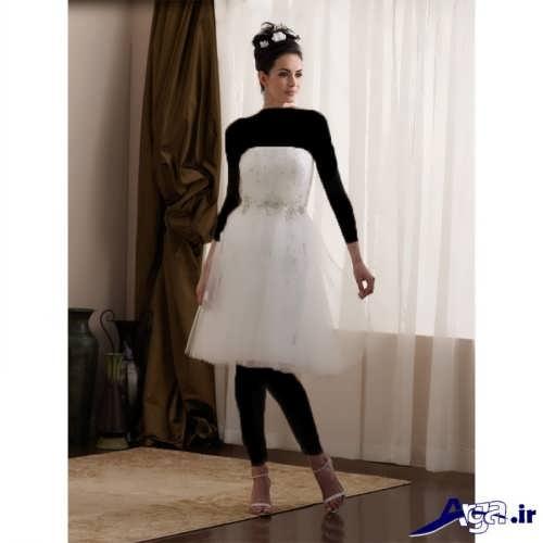 مدل لباس عروس ساده دکلته و شیک