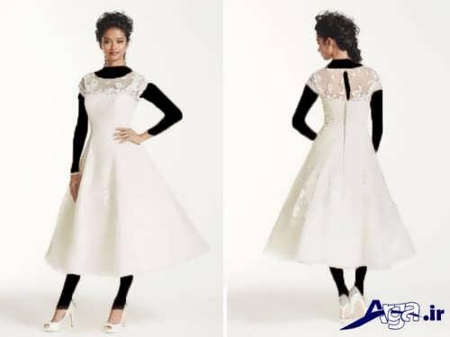 مدل لباس عروس ساده و کوتاه
