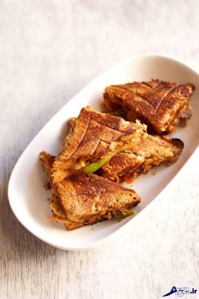 طرز تهیه اسنک مرغ با نان تست