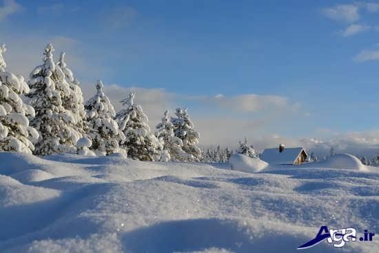 منظره برفی رویایی