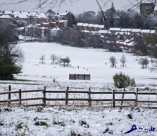 عکس از طبیعت زیبا در زمستان