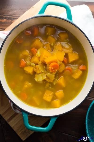 طرز تهیه سوپ با کدو حلوایی