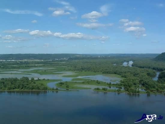 عکسی زیبا از رودخانه می سی سی پی