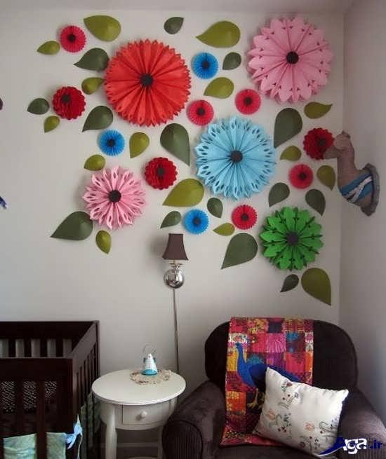 تزیین روی دیوار با کاغذ