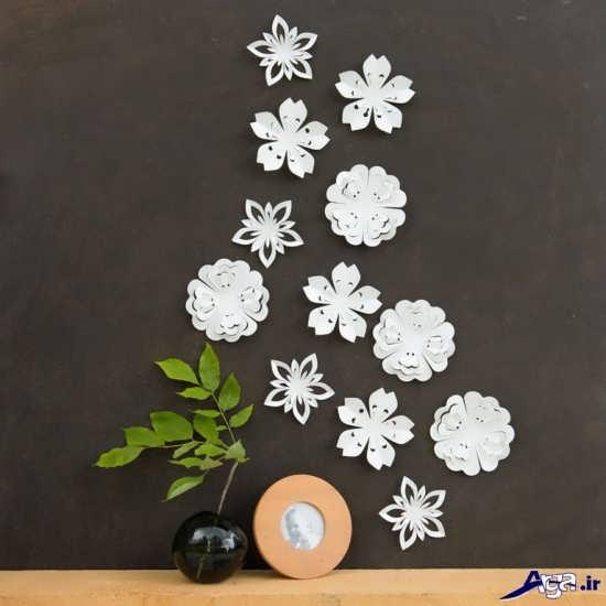 تزیین زیبای دیوار با کاغذ