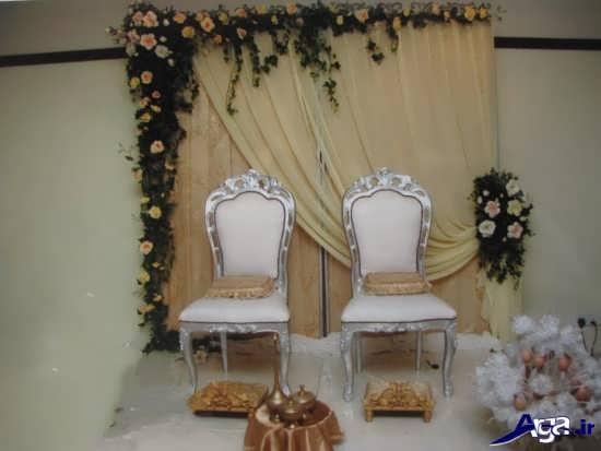 تزیین ساده جایگاه عروس