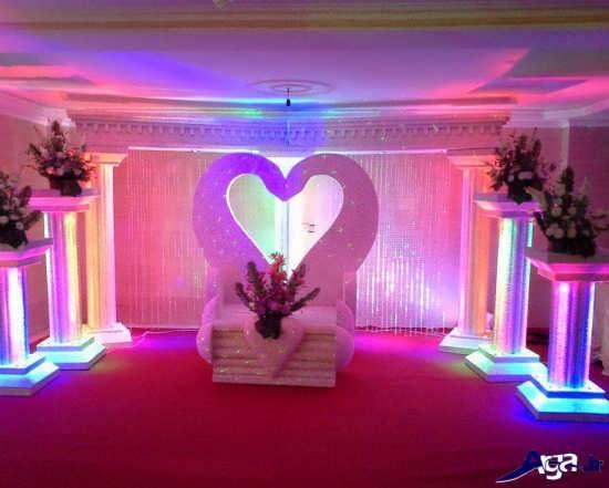 تزیین جالب جایگاه عروس
