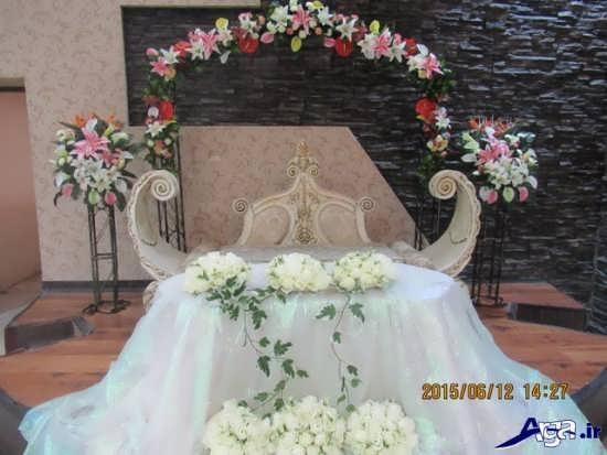 تزیین جایگاه عروس جدید