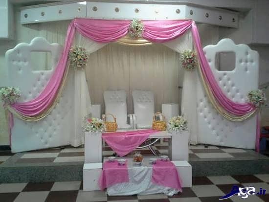 تزیین با تور ساتن تزیین جایگاه عروس و داماد در خانه با ایده های زیبا و جالب